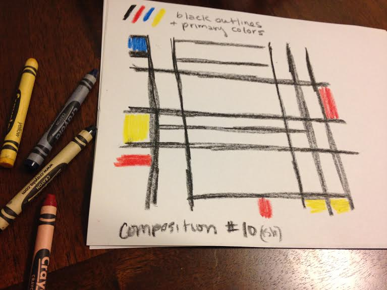 Mondrian Crayon Rendition